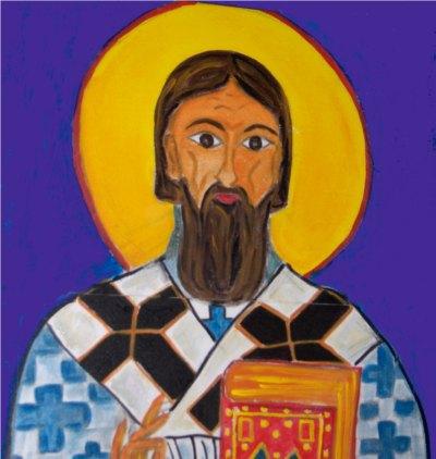 Ikona Svetog Save koju je uradila slikarka Dijana Obradović